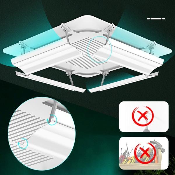 에어컨 윈드바이저 바람막이 천장형 시스템 4Way형
