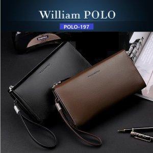 WilliamPOLO-197(브라운) 남성 클러치백  남자 맨스백