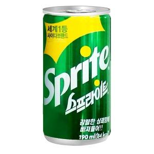스프라이트 190ml(30캔)/사이다/음료수/캔음료