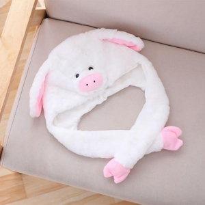 (파티팡)큐티 귀달이모자  돼지  화이트 _partypang