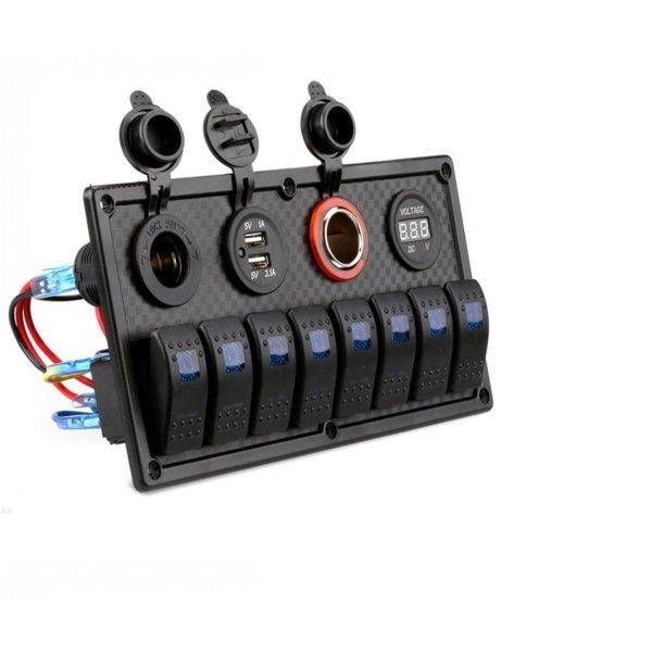 Switch Panel 12 V/24 V 차단기 전압계 Car  Boat