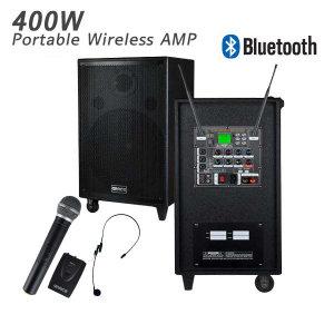 400W 무선충전 행사용앰프스피커 USB 블루투스 2CH
