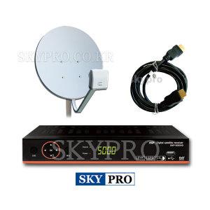 SWP-5000HD+안테나+LNB세트 국내방송및 유투브시청