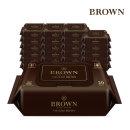 브라운 아기물티슈 VIP 골드 브라운 20매 휴대캡 24팩