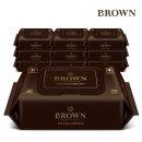 브라운 VIP 골드 브라운 아기물티슈 70매 캡형 10팩