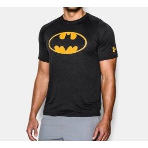 언더아머 남성용 배트맨 로고 기능성 티셔츠 스키니핏