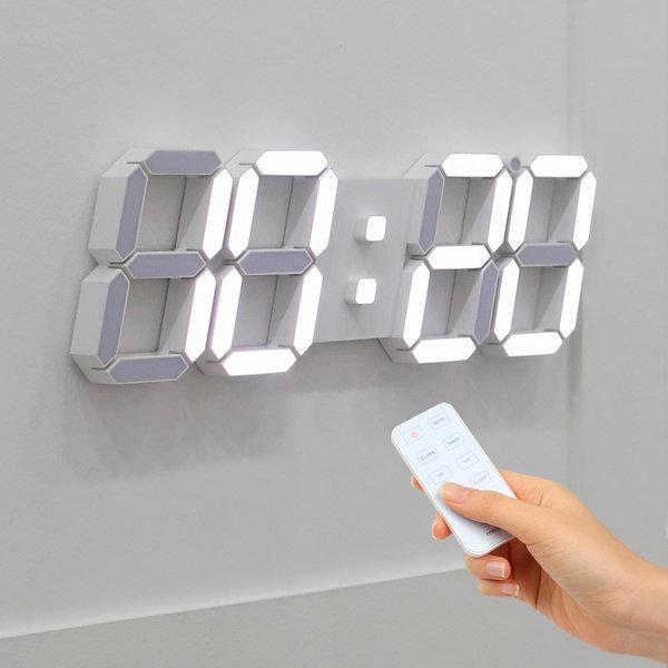 3D LED 벽시계 빅플러스 화이트