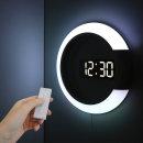 거실 LED벽시계 듀얼 미러클락 무드등