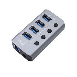 4포트 USB3.0 허브 유전원 NX-U1004P NX824