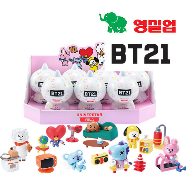 BT21 블라인드팩 Vol.1 7개 세트