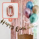 생일파티 4종세트(메탈크롬)+숫자풍선(로즈골드)_0