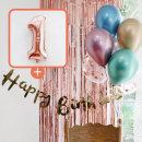 생일파티 4종세트(메탈크롬)+숫자풍선(로즈골드)_1