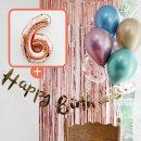 생일파티 4종세트(메탈크롬)+숫자풍선(로즈골드)_6