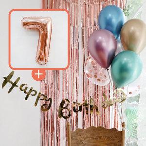 생일파티 4종세트(메탈크롬)+숫자풍선(로즈골드)_7