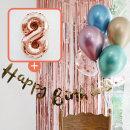 생일파티 4종세트(메탈크롬)+숫자풍선(로즈골드)_8