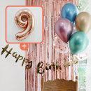 생일파티 4종세트(메탈크롬)+숫자풍선(로즈골드)_9