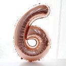 숫자풍선(로즈골드)_6 / 생일파티 백일상 은박풍선