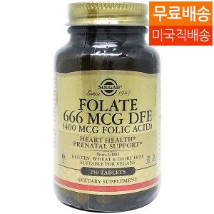 Solgar 솔가 엽산 Folate 666 mcg DFE 250탭 /1081