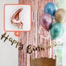 생일파티 4종세트(메탈크롬)+숫자풍선(로즈골드)_4