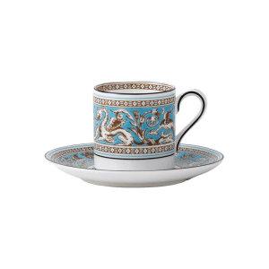 플로렌틴 터콰즈 커피컵 소서(에스프레소잔)
