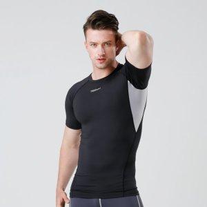기능성 스포츠 이너웨어 반팔 언더레이어 라운드 셔츠