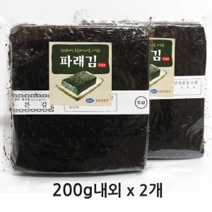 울돌목 맛좋은 완도산 햇 파래김 100매+100매