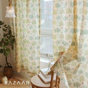 바자르 모로코 광목 가리개 커튼(긴창형/150x230)1