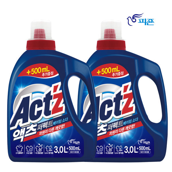 액츠 퍼펙트 액체세제 세탁세제3L+500ml2개베이킹소다