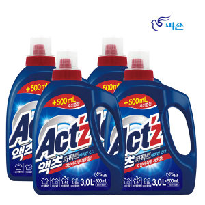 액츠 퍼펙트 액체세제 세탁세제3L+500ml4개베이킹소다 - 상품 이미지