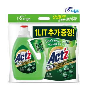 액츠 프리미엄젤 액체세제 세탁세제2.7L+1L유칼립투스 - 상품 이미지