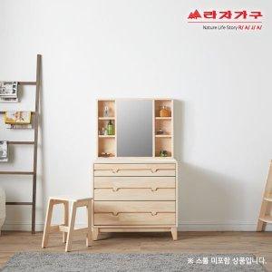 위드 편백나무 원목 3단서랍 화장대 pk014