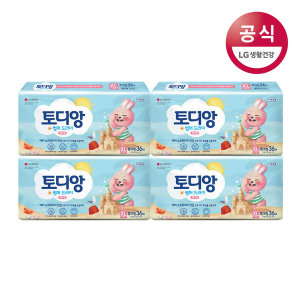 토디앙 썸머드라이 팬티 기저귀 특대형 여아 36매x4팩