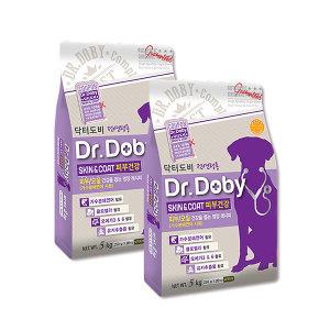 닥터도비 피부건강 5kg x2개/강아지사료/기능성사료