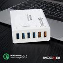 6포트 퀵차지3.0 고속 멀티충전기 급속충전 화이트