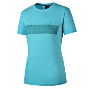 디스커버리  모다아울렛 여성 로고 라운드 티셔츠 DWRT7B631