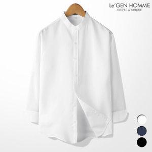르젠 심플컬러 차이나카라 노멀핏 셔츠(LNSH1860PE)