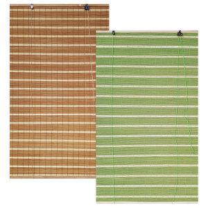 줄무늬 대나무 자동문발 (현관발 블라인드 대나무발