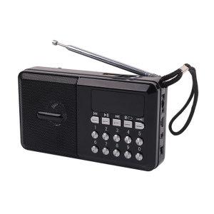 YX974 효도 라디오 휴대용 스피커 FM MP3지원 -블랙