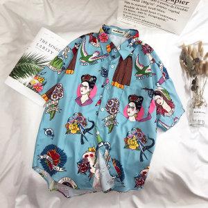 셔츠 남자 하와이 반팔 여름셔츠 프린트 남방 셔츠17