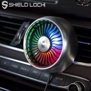 차량용 송풍구 써큘레이터 LED 선풍기 블랙
