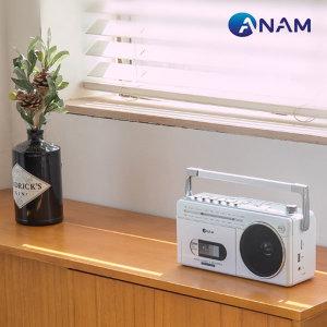 블루투스 카세트 어학용 FM라디오 USB PA-720 /화이트