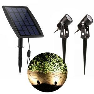 태양광 LED 더블 투광기 센서등 정원등 벽부등 투광등