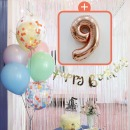 생일파티 4종세트(파스텔)+숫자풍선(로즈골드)_9