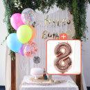 생일파티 4종세트(네온형광)+숫자풍선(로즈골드)_8