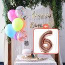 생일파티 4종세트(네온형광)+숫자풍선(로즈골드)_6