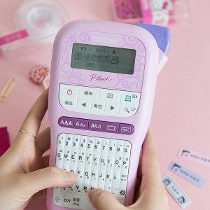 핑크색 라벨기 PT-H110PK 핸디형 라벨프린터