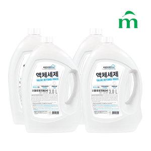 바른세제연구소 액체세제(겸용) 3L  4개 - 상품 이미지
