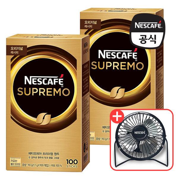 네스카페 수프리모 아메리카노 200T + 탁상용 선풍기