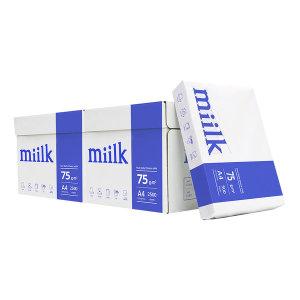 한국제지 밀크 A4 복사용지 75g 2500매 2BOX