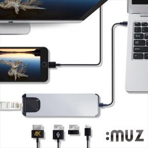 HB10 USB 타입C 올인원 멀티허브 5in1 이더넷/4kHDMI